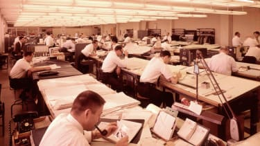 Workers in the 1960s.