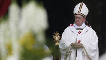 A dark horizon for the pope.