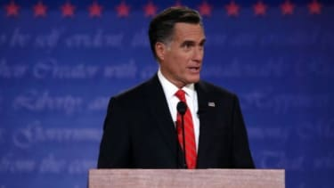 Mitt Romney speaks during the presidential debate at the University of Denver on Oct. 3: Romney seemed to handily outperform President Obama during their first debate, but it remains to be se