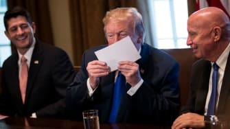 Trump tax form.