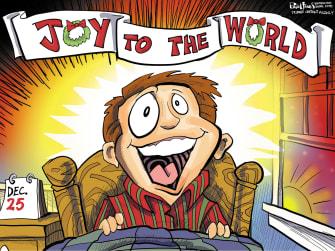 Editorial Cartoon U.S. Christmas joy