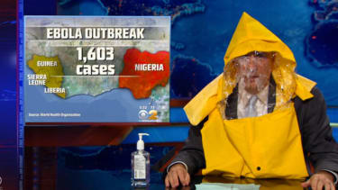 Jon Stewart wants you to calm down about the Ebola outbreak