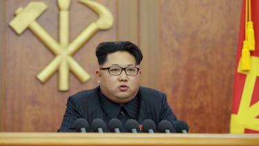 Kim Jong Un speaks in Pyongyang