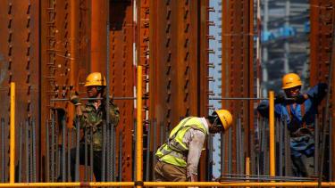 Construction in Beijing.