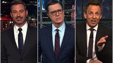 Late night hosts on William Barr