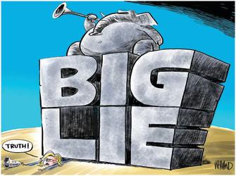 Political Cartoon U.S. gop liz cheney big lie