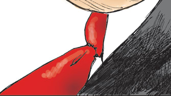 Political Cartoon U.S. Trump Iran Saudi Arabia Locked and Loaded