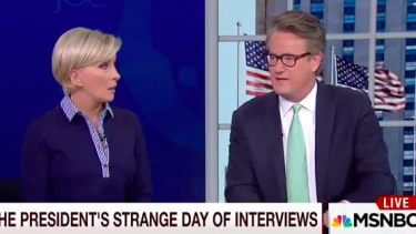 Joe Scarborough thinks Trump is acting similarly to his mother, who has dementia.