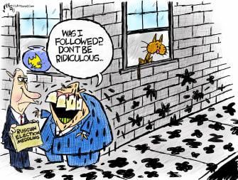 Political Cartoon U.S. giuliani russian meddling election