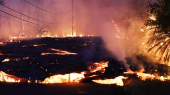 Volcano eruption in Hawaii.