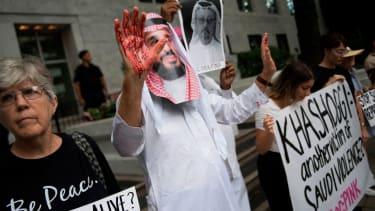 Protesters urge action on disappearance of Jamal Khashoggi