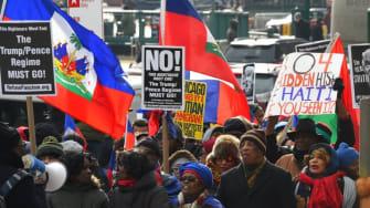 Haiti protest.