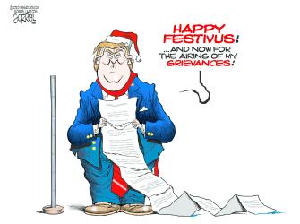 Political Cartoon U.S. Trump Festivus