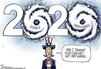 Editorial Cartoon U.S. 2020 hurricanes