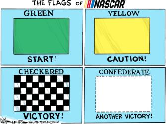 Editorial Cartoon U.S. NASCAR confederate flag