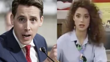 An image of Sen. Josh Hawley next to an image of Jessie Spano.