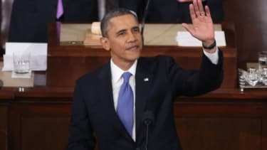 President Barack Obama delivers his State of the Union speech before a joint session of Congress at the U.S. Capitol February 12, 2013.
