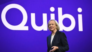 Quibi CEO Meg Whitman speaks about the short-form video streaming service for mobile Quibi during a keynote address January 8, 2020 at the 2020 Consumer Electronics Show (CES) in Las Vegas, N
