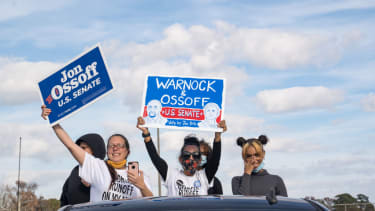 Warnock and Ossoff supporters.