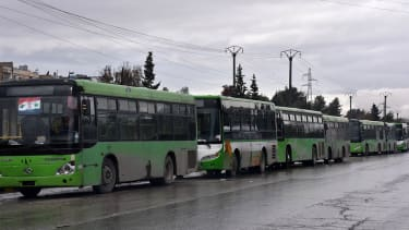 Syrian busses are leaving Aleppo without civilians, thwarting evacuation plans