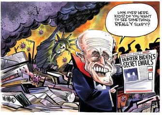 Political Cartoon U.S. Hunter Biden New York Post Giuliani