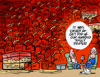 Editorial Cartoon U.S. gas hoarding colonial pipeline hack