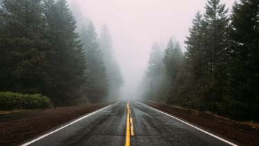 Any road in the Pacific Northwest.