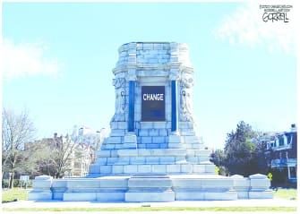 Editorial Cartoon U.S. monument change George Floyd