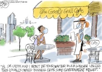 Editorial Cartoon U.S. Small business coronavirus loans