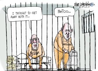 Editorial Cartoon U.S. Weinstein guilty MeToo Movement Cosby