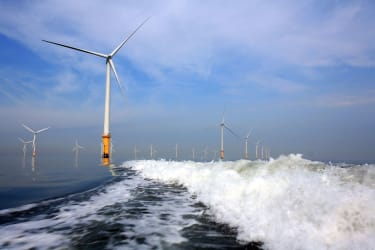 Offshore wind turbines in the UK.