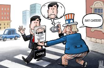 Political Cartoon World China coronavirus U.S. demonizing