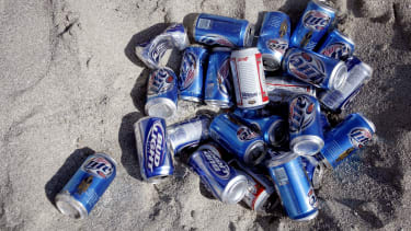 Beer cans.