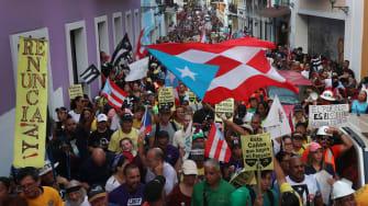 Puerto Rico protests.