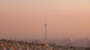 The modern urban landscape, Tehran.
