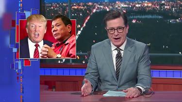 Stephen Colbert slams Trump over passing secrets to Rodrigo Duterte