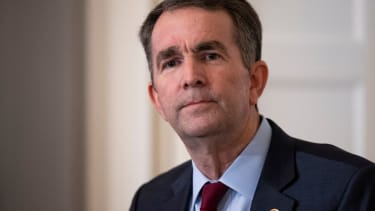 Virginia Governor Ralph Northam speaks with reporters at a press conference at the Governor's mansion on February 2, 2019 in Richmond, Virginia.