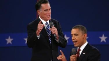 Mitt Romney and President Barack Obama