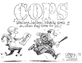 Editorial Cartoon U.S. Cops reform