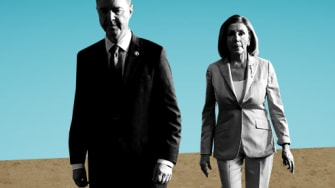 Nancy Pelosi and Adam Schiff.