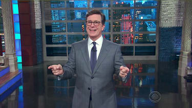 Stephen Colbert stages a Trump Twitter-vention