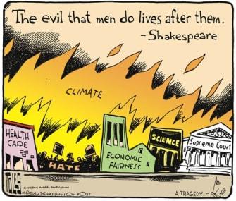 PoliticalCartoon U.S. Trump climate hate economy