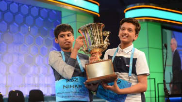 The co-winners of the 2016 Scripps National Spelling Bee