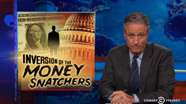 Jon Stewart demolishes Fox News and conservatives for their hypocrisy on corporate 'refugees'