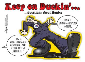 Political Cartoon U.S. Hunter Joe Biden R Crumb