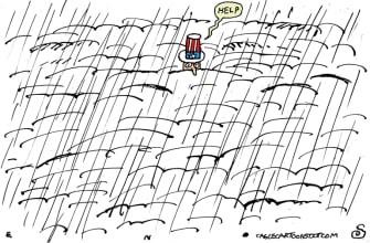 Editorial Cartoon U.S. winter storms