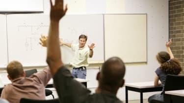 Man in class