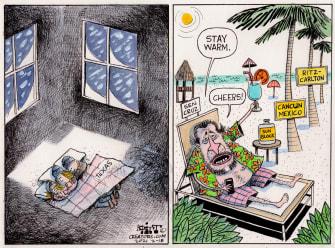 Political Cartoon U.S. ted cruz texas cancun