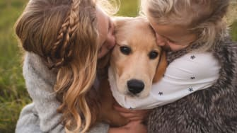 Practicing parenthood with a pet dog can help prepare for human children.