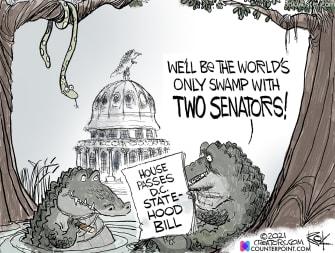 Political Cartoon U.S. dc statehood swamp